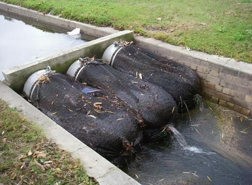 Сбор мусора в ливневой канализации