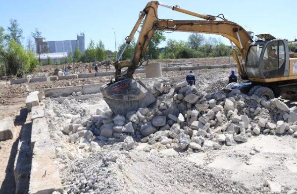 применение строительного мусора в закладке фундамента
